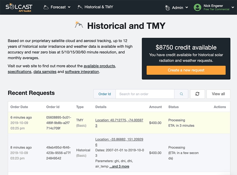 How to download and test Solcast TMY and timeseries data in just minutes for FREE