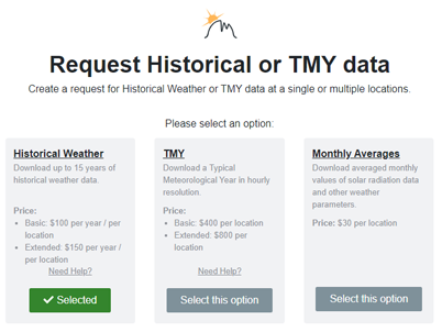 Select your data