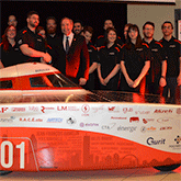 Photograph of Eclipse Solar Car Team.