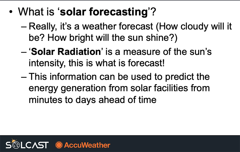 Solar Power Forecasting: what it is and how to do it
